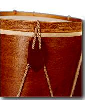 Closeup of Tabor from Harms Historical Percussion